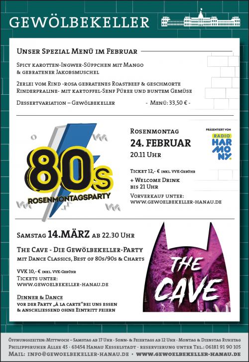Anzeige-Rosenmontag-Cave-Spezialmenue